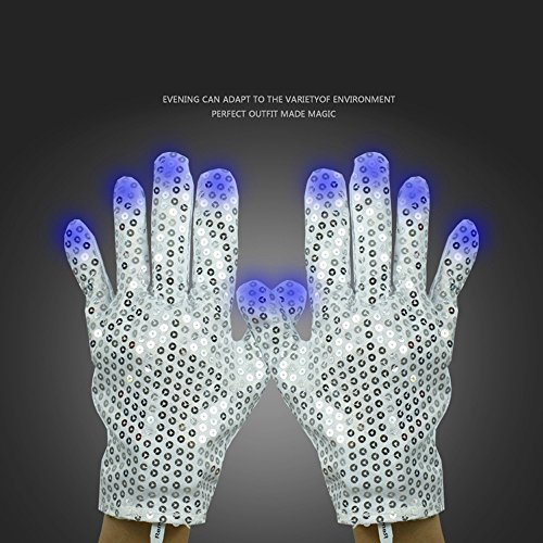 Michael Dance Costume Jackson (Zsjijia Michael Jackson-style LED gloves for dance,Costume Show Prop Toy for Boys Girls Birthday)