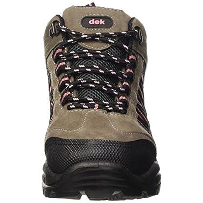 Dek Womens Hiking/Walking/Trekking Ankle Boots Grey/Pink 2