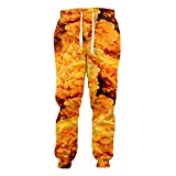 Want Eating!Fried Chicken Fashion Joggers 3D Printed Sweatpants Hip-Hop Trousers Casual Pants