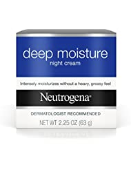 Neutrogena Deep Moisture Night Cream with Glycerin & Vitamin D3, Intensive Hydrating Facial Moisturizer for Instant Dry Skin Relief, Non-Greasy & Non-Comedogenic, 2.25 oz