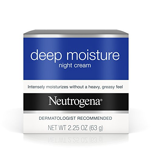 Neutrogena Deep Moisture Night Cream with Glycerin & Vitamin D3, Facial Moisturizer for Dry Skin with Shea butter, Glycerin, Vitamin D3, Non Greasy & Non Comedogenic, 2.25 oz (Pack of 3)