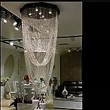 YOUZHENGJIA D23.62'' X H63'' Modern Crystal Chandelier Creative Design Ceiling Light Fixture