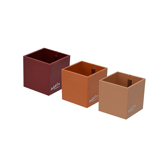 46 opinioni per Kalamitica Set da 3 Cubi Portavaso Magnetico, Diametro 6 cm, Rosso
