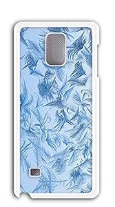 nbcase Blanco Copos de nieve duro PC Galaxy Note 4Cover
