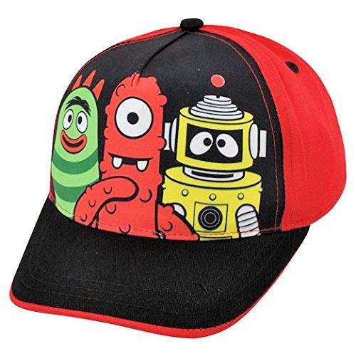 Yo Gabba Gabba! Muno Brobee Two Tone Red Black Child Adjustable Velcro Hat Cap