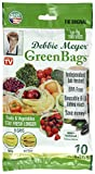 green container - Debbie Meyer GreenBags Freshness-Preserving Food/Flower Storage Bags (Large, 10-Pack)