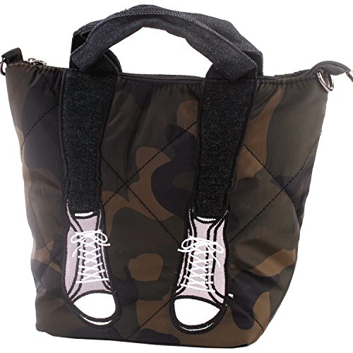 irls Brown Camouflage Jeans Stiletto High-heel Fashion Design Handbag Shoulder Bag,FB90026GR,Camouflage ()