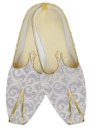 INMONARCH Poliéster Crema Hombres Boda Zapatos Diseño Flor MJ10554