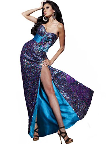 Tony Bowls Sequin Gown 112742, Blue, 14