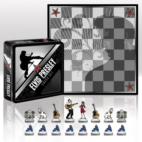 Elvis Presley Chess Set - Wood Expressions Elvis Collector's Chess Set