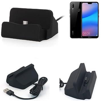 K-S-Trade Dock USB para el Huawei P20 Lite, Negro | estación ...