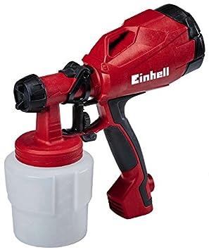 Einhell Pistolet /à peinture /électrique Pulv/érisateur TC-SY 500 P 500 W, Pulv/érisation de laques et de lasures, Rev/êtement SoftGrip, Livr/é avec accessoires