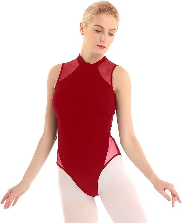 iiniim Maillot de Danza Ballet Gimnasia Leotardo sin Espalda Body Cl/ásico Tirantes El/ástico Algod/ón para Mujer Chica