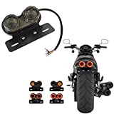 Ronben Motorcycle LED Twin Dual Tail Turn Signal Brake License Plate Integrated Light