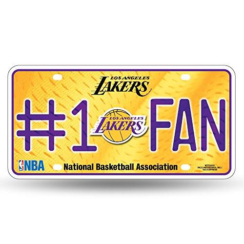 - NBA Los Angeles Lakers #1 Fan Metal License Plate Tag