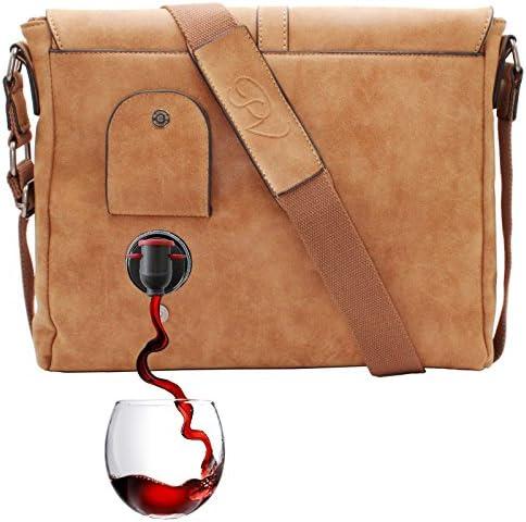 PortoVino Wine Messenger Bag Compartment