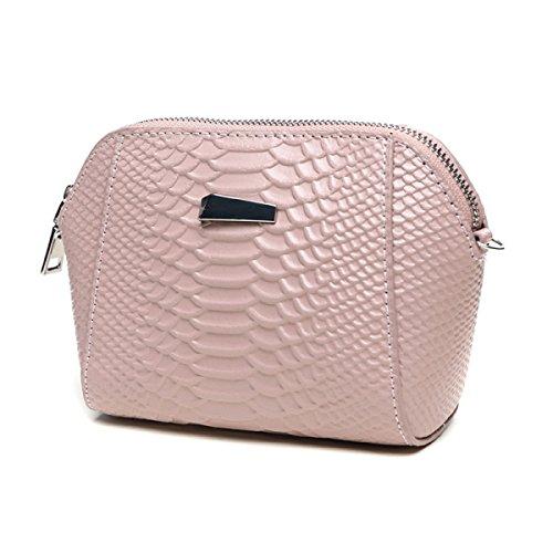 Womens Weiche Große Kapazität Kupplung Handytasche Brieftasche Messenger Shell Bag Mini Kette Tasche Pink PR8KmxmJE