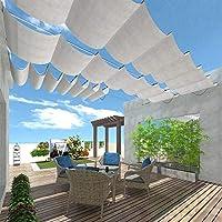 Sunshades Depot Toldo retráctil Deslizante de Alambre para toldo de Techo, Repuesto para pérgola Gazebo Trellis Terrace para terraza, Patio, Restaurante, cafetería, Porche, marrón, 3 x 16 pies: Amazon.es: Jardín