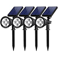 InnoGear Upgraded Solar Lights 2-in-1 Waterproof Outdoor...