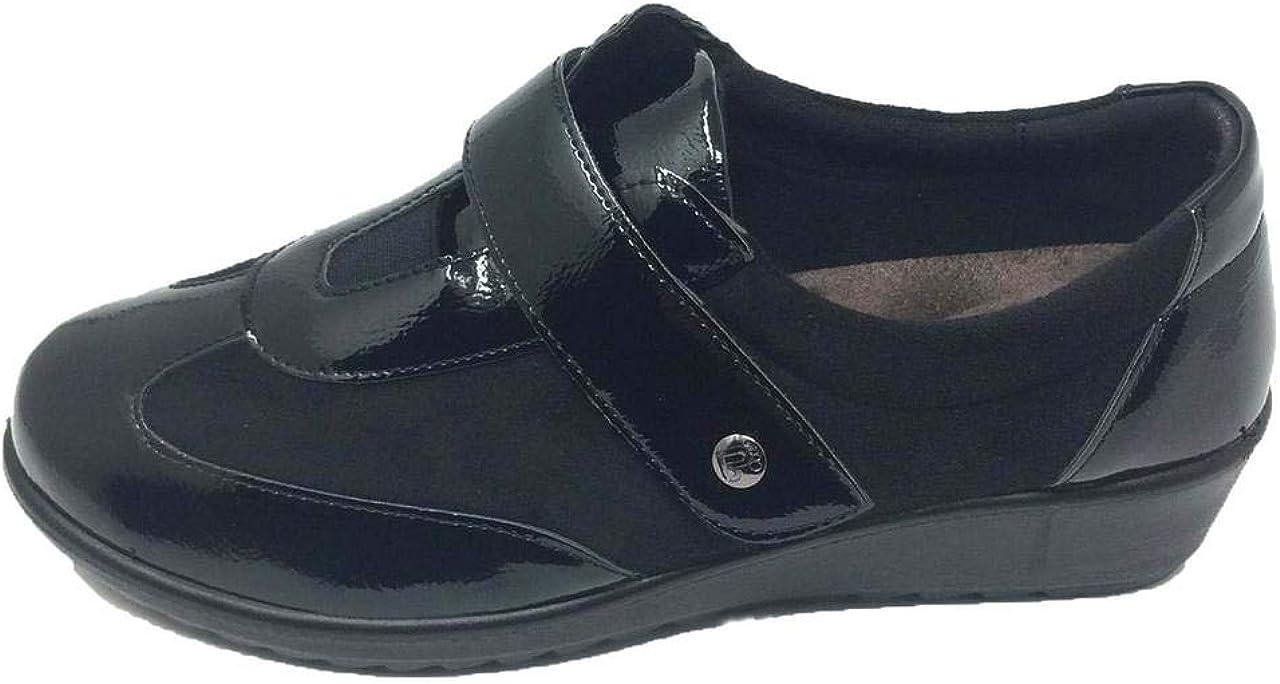 Zapato de Calle/De Mujer/Amarpies/Bamara/Cierre Fácil/Negro/Cuña 3 cm