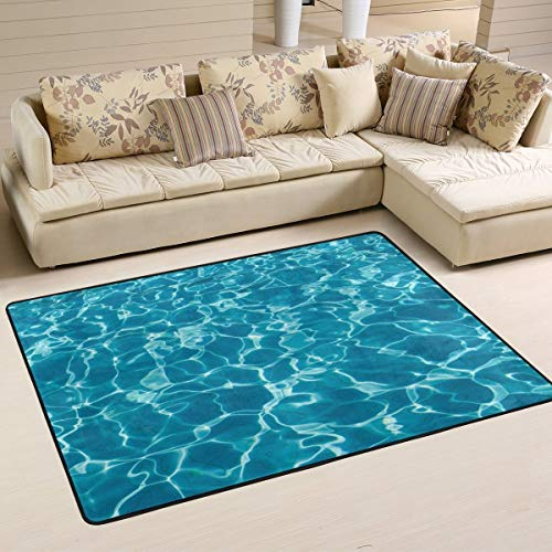 Fantasy Star Play Mat for Kids - Non Slip Area Rug Home Decor, Hipster Turquoise Ocean Wave Durable Floor Mat Living Room Bedroom Carpets Doormats 72 x 48 inches - ()