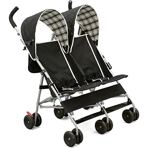 Delta DX Side by Side Stroller in Black Plaid by Delta