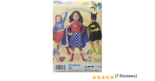 Simplicity 1035 A (3-4-5-6-7-8) - Disfraz Infantil de Wonder Woman ...