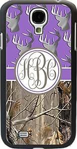 Purple Buck Head #3 Country Girl Camo Monogram Case Cover For Samsung Galaxy S4