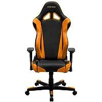 DXRacer Racing Series OH/RE0/NO Racing Bucket Seat Ergonomic Computer Chair with Cushions (Black/Orange)
