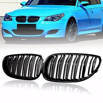1 par de rejilla riñón parrilla delantera para BMW E46 M3 325Ci 3 serie 2DR 99-06 cromo de plata decoración del coche accesorios: Amazon.es: Coche y moto