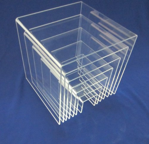 SourceOneOrg 7 Piece Set (2,3,4,5,6,7,8 Inch) Clear Acrylic Risers