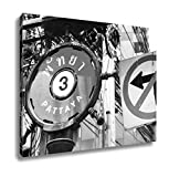 Ashley Canvas Street Sign Pattaya 3 In English And Thai Next To A No Left Turn Sign, Wall Art Home Decor, Ready to Hang, Black/White, 16x20, AG5892511
