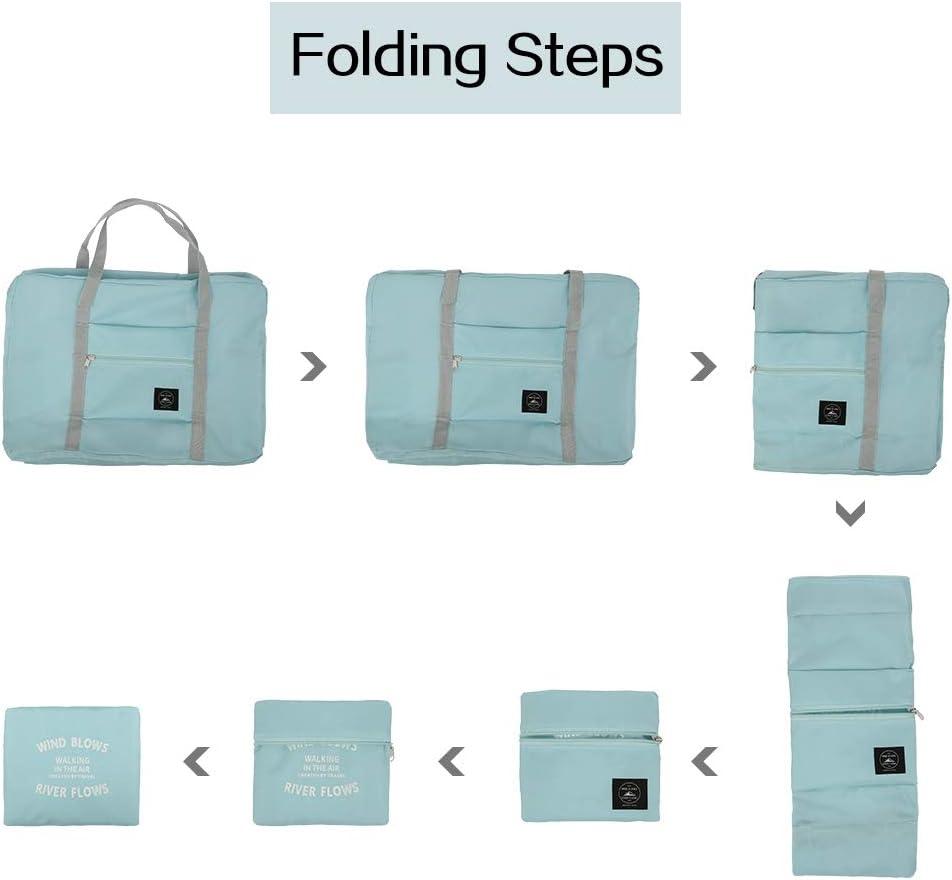 Miuse Bolsa de viaje plegable de viaje para equipaje de mano para llevar en la noche al gimnasio Rosa 48 x 32 x 16 cm nailon bolsa de cabina de nailon impermeable