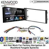 Volunteer Audio Kenwood DDX9904S Double Din Radio Install Kit with Apple CarPlay Android Auto Bluetooth Fits 2013 Nissan Frontier, Titan