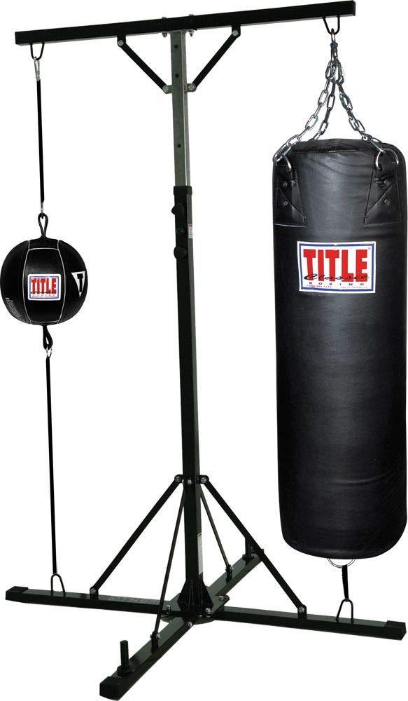 タイトルボクシングDouble Trouble Heavybagスタンドwith Heavy Bag   B001XV4UJC