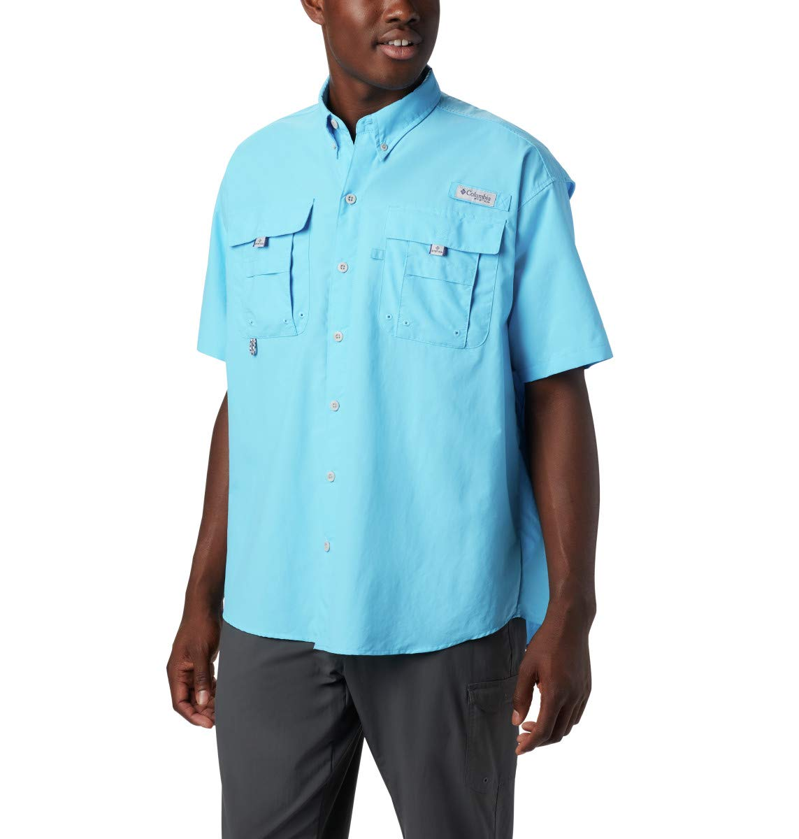 Columbia Men's PFG Bahama II Short Sleeve Shirt, Riptide, X-Small by Columbia