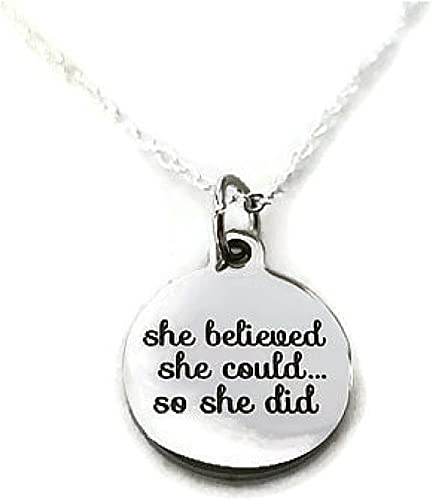 She Believed she Could so she did Moonstone Creations Believe Key Chain