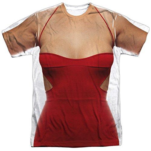 Battle Star Galactica- No.6 Costume Tee (Front/Back) T-Shirt Size (Cylon Six Costume)