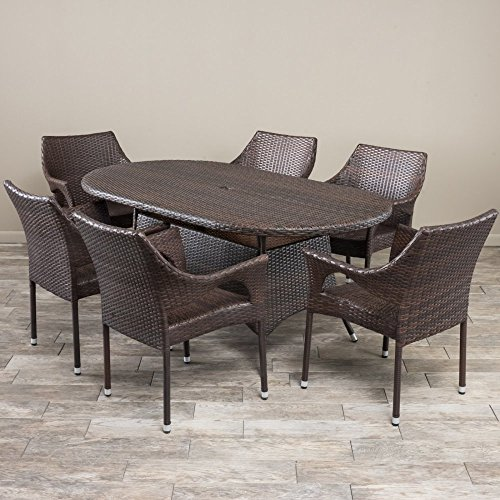 7-Pc Modern Outdoor Dining Set -  Christopher Knight Home, 295825