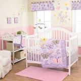 LuLu Butterfly 4 Piece Baby Crib Bedding Set with Bumper by Belle