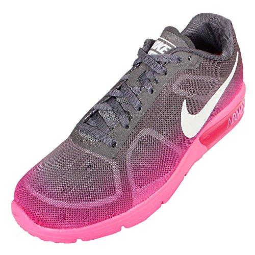 Nike Damen Wmns Air Max Sequent Laufschuhe Hyper Pink/Dark Grey/White
