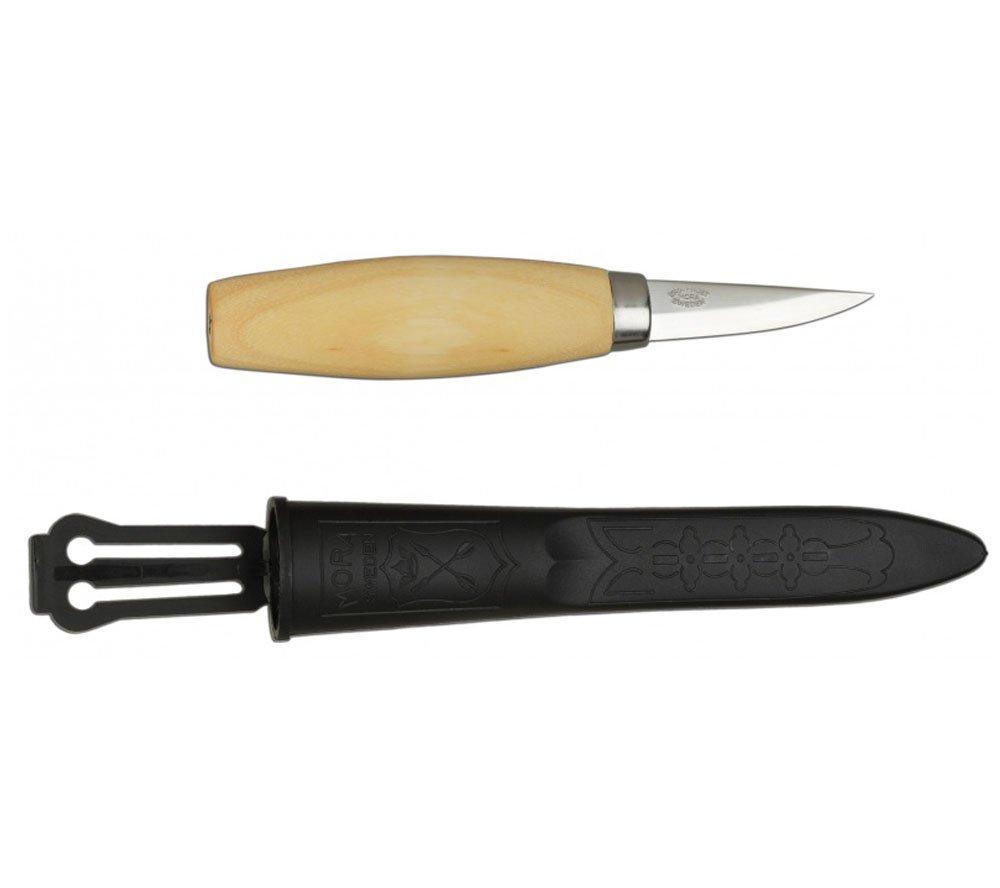 Bundle - 3 Items: Morakniv Wood Carving 164 Knife (No Sheath), Morakniv Wood Carving 163 Knife (No Sheath), Morakniv Wood Carving 120 Knife (with ...