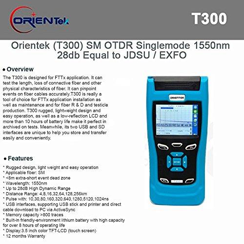 Orientek T300 Handheld Mini OTDR 1550nm 28dB, Optical Time Domain Reflectometer