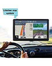 GPS de Coches y Camiones Navigation Pantalla LCD capacitiva de 7 Pulgadas automóvil con,mapa de 48 países,planifica rutas inteligentes,actualizaciones de mapas de por Vida(UK y UE)