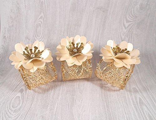 Amazon Lace Napkin Holders Gold Lace And Ivory Napkin Rings