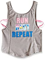 CB Sports Little Girls' Active Tank Top, Light Heather Gray, 5/6