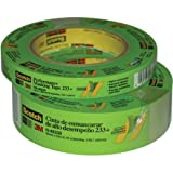 3M 233+ Crepe Paper Performance Masking Tape, 250 Degree F Performance Temperature, 25 lbs/in Tensile Strength, 60 yds Length x 1'' Width (Case of 24)