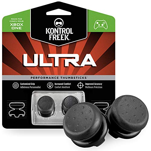 KontrolFreek Ultra for Xbox One Controller | 2 Performance Thumbsticks | 2 High-Rise Concave | Black