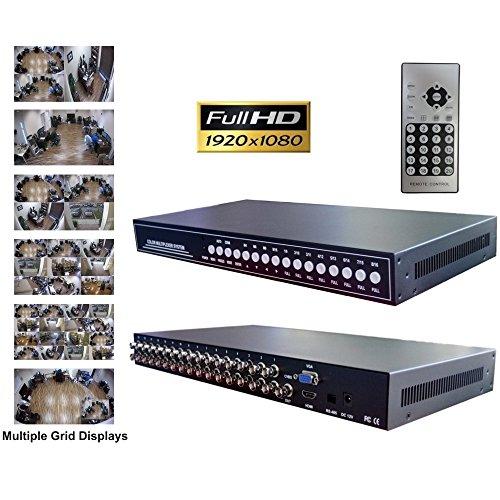 (CCTV Camera Pros VM-HD16 16ch HD CCTV Multiplexer, Analog, AHD, HDCVI, HD-TVI Video Processor)