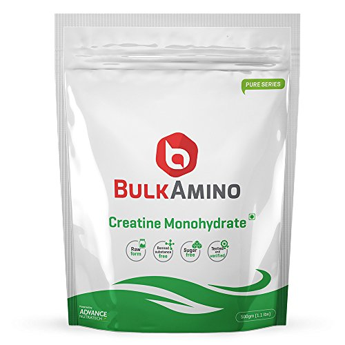 Bulkamino Creatine Monohydrate Unflavored 500 Grams(1.1Lbs) … by ADVANCE NUTRATECH